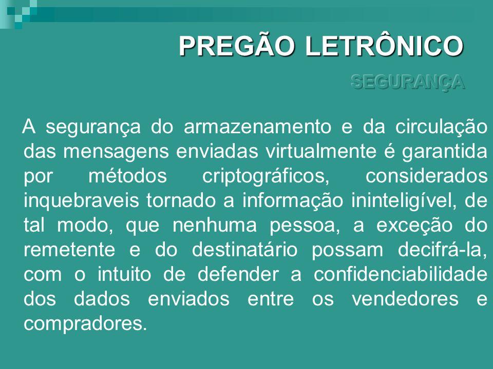 PREGÃO LETRÔNICO SEGURANÇA