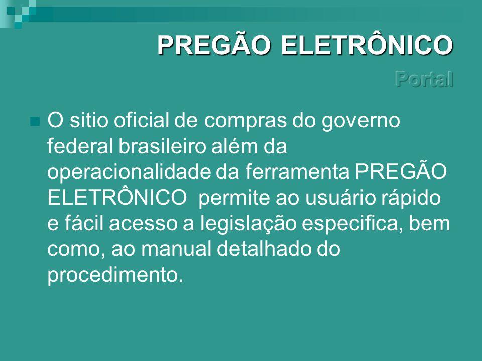 PREGÃO ELETRÔNICO Portal