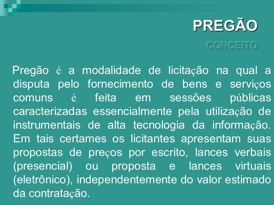 PREGÃO CONCEITO