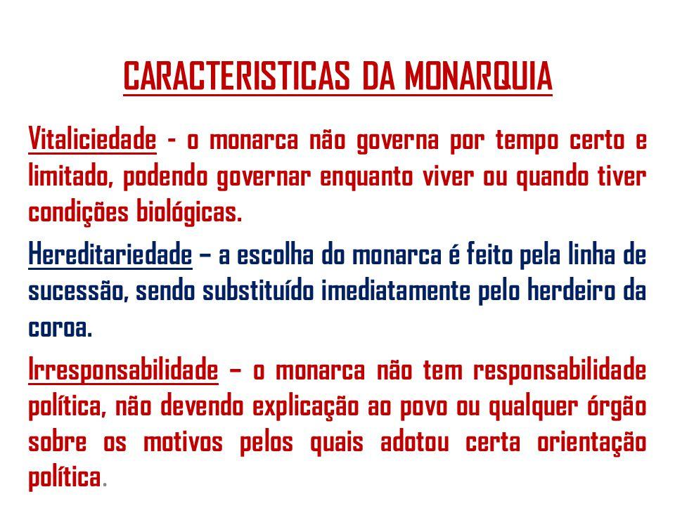 CARACTERISTICAS DA MONARQUIA