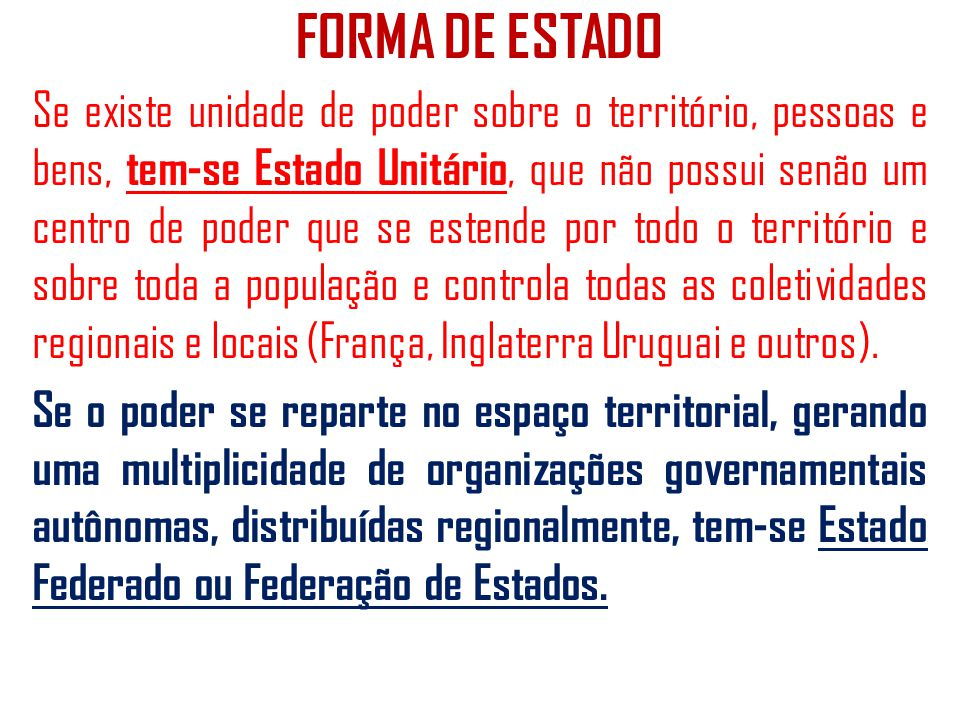 FORMA DE ESTADO