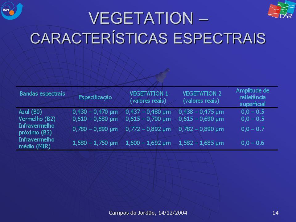 VEGETATION – CARACTERÍSTICAS ESPECTRAIS