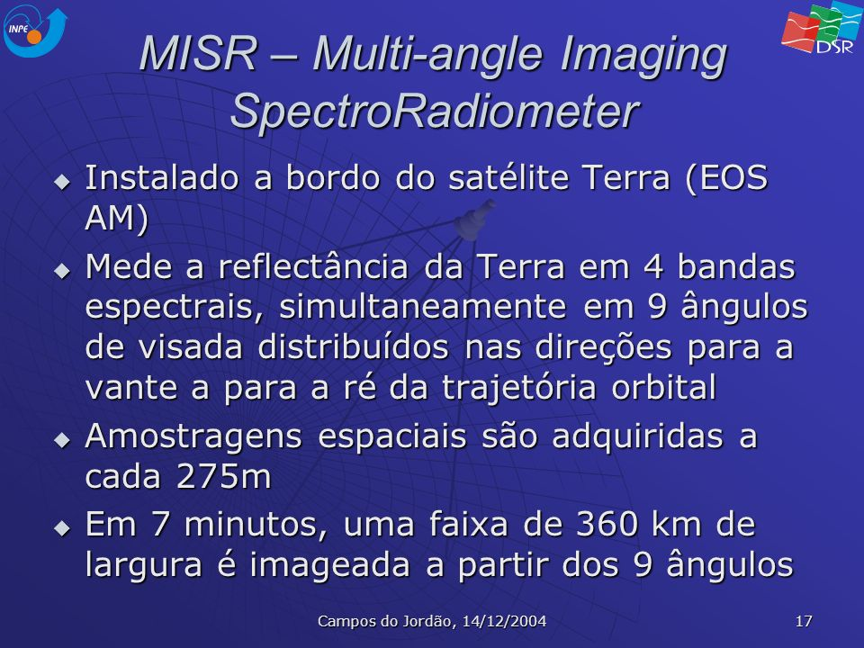 MISR – Multi-angle Imaging SpectroRadiometer