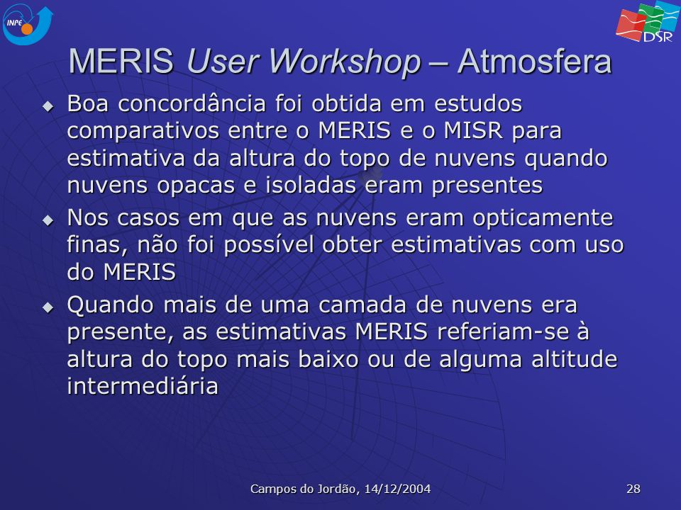 MERIS User Workshop – Atmosfera