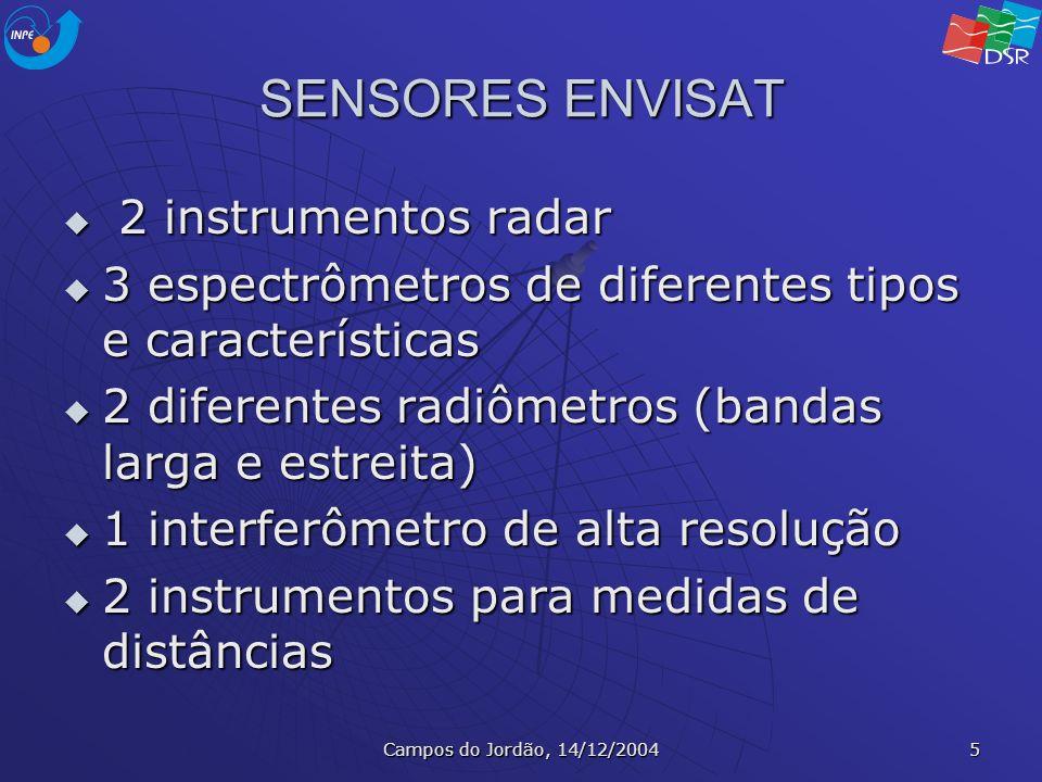 SENSORES ENVISAT 2 instrumentos radar