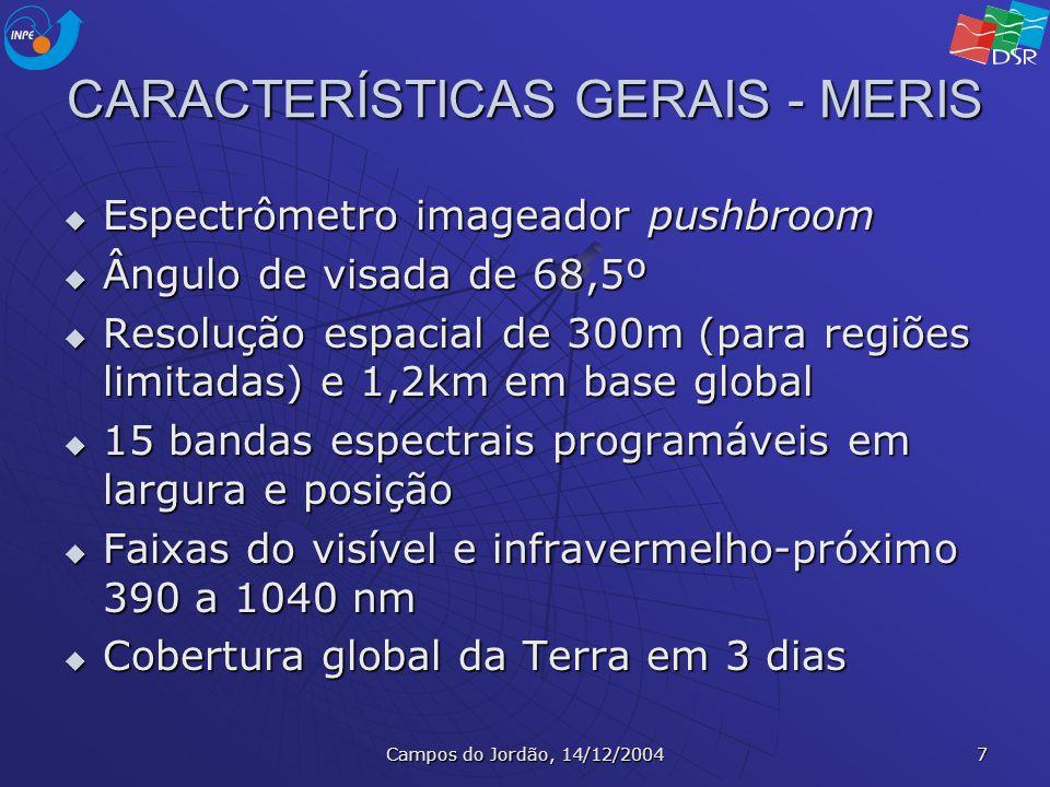 CARACTERÍSTICAS GERAIS - MERIS