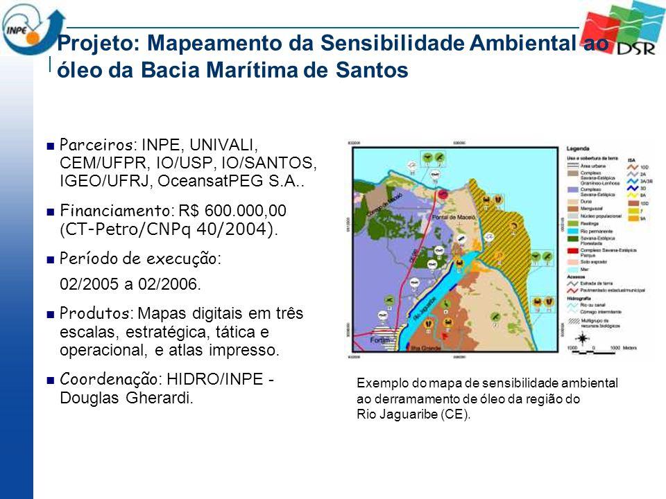 Projeto: Mapeamento da Sensibilidade Ambiental ao óleo da Bacia Marítima de Santos