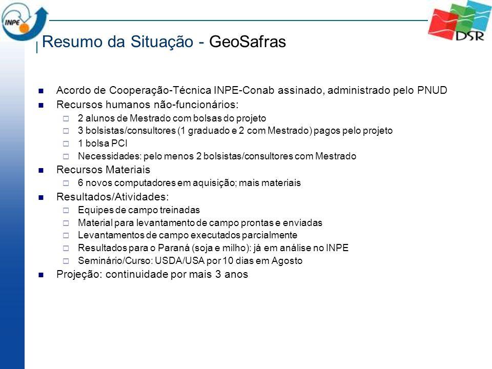 Resumo da Situação - GeoSafras