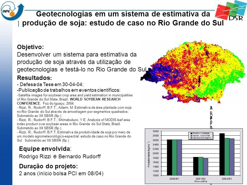 Geotecnologias em um sistema de estimativa da