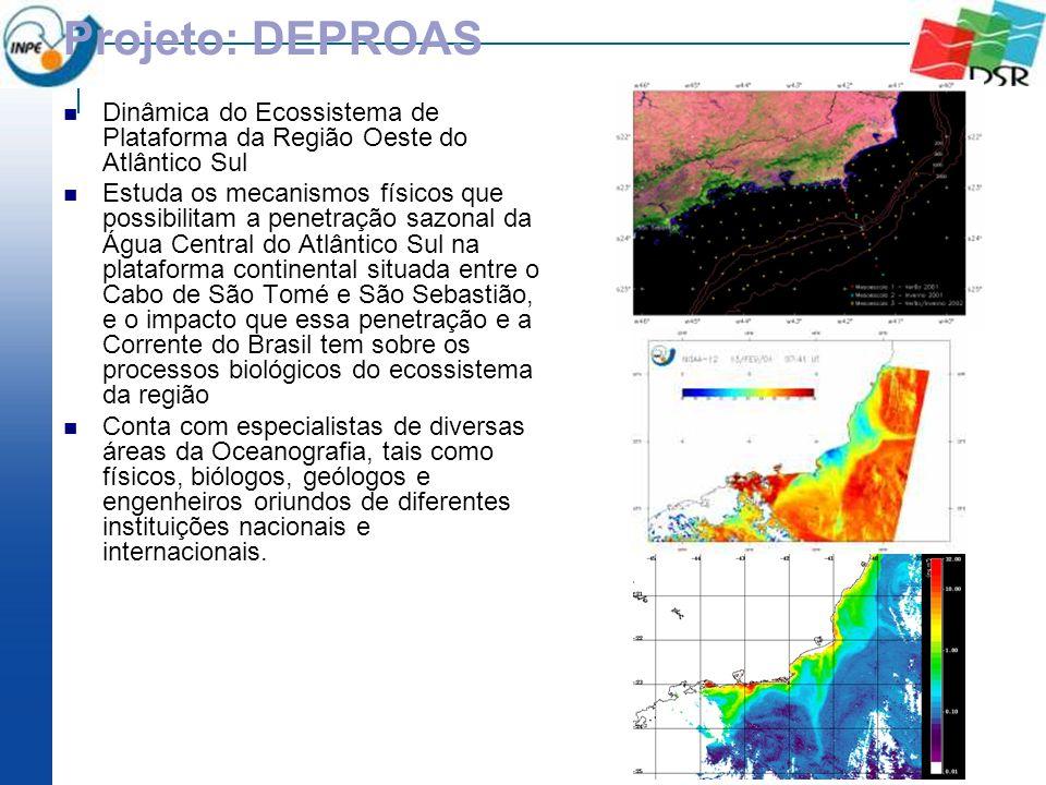 Projeto: DEPROAS Dinâmica do Ecossistema de Plataforma da Região Oeste do Atlântico Sul.