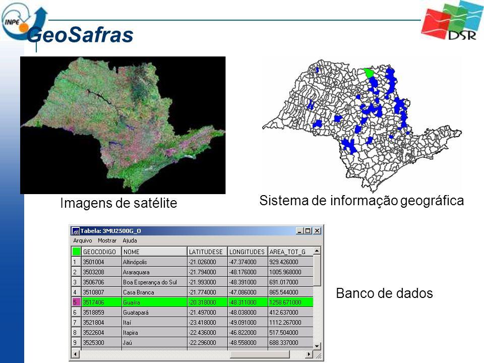 GeoSafras Sistema de informação geográfica Imagens de satélite