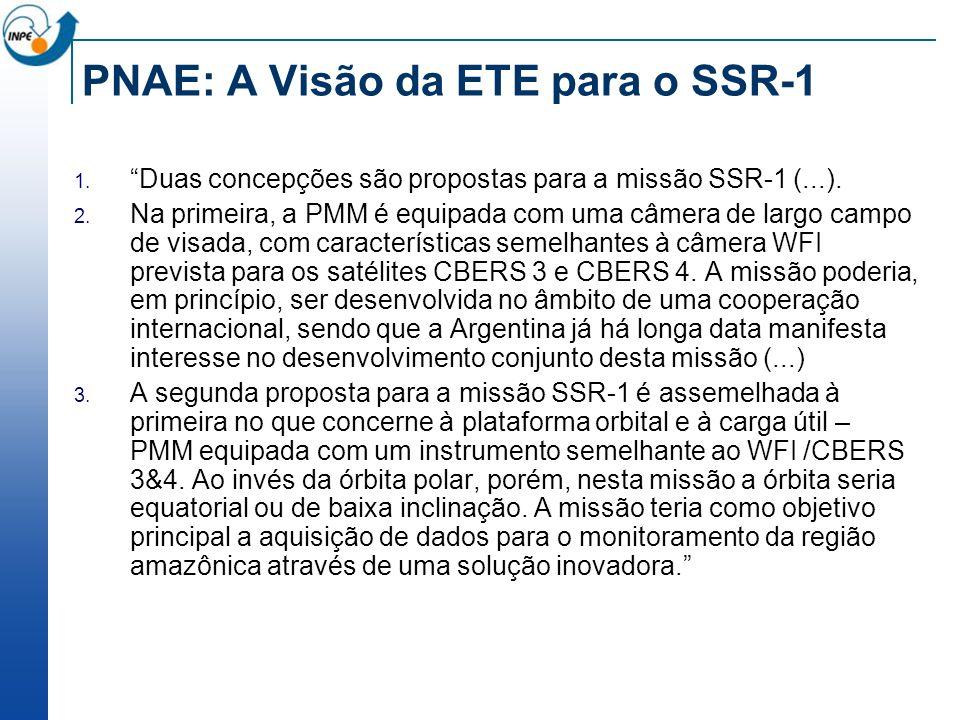 PNAE: A Visão da ETE para o SSR-1