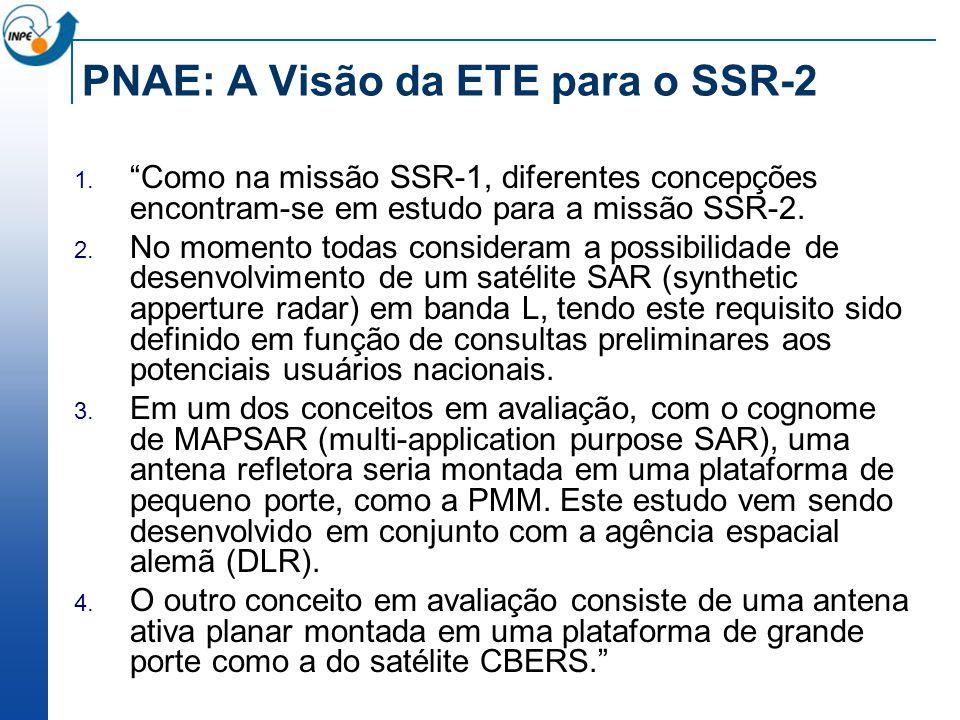 PNAE: A Visão da ETE para o SSR-2