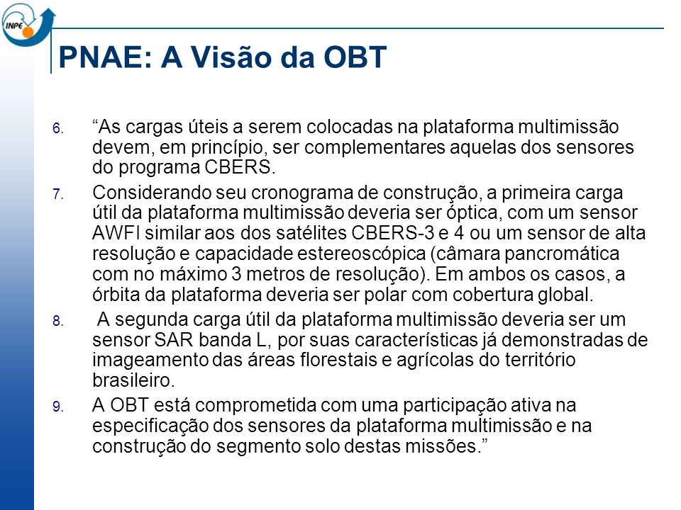 PNAE: A Visão da OBT