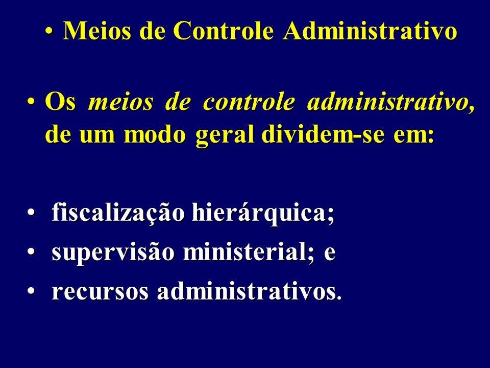 Meios de Controle Administrativo