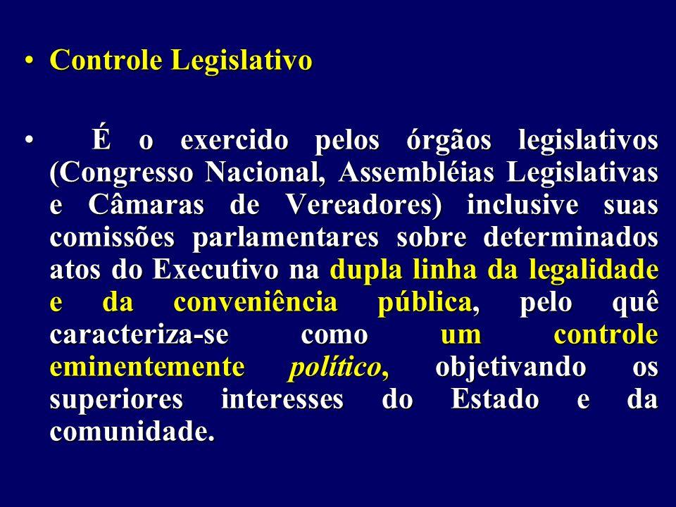 Controle Legislativo