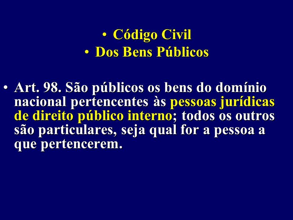 Código Civil Dos Bens Públicos.