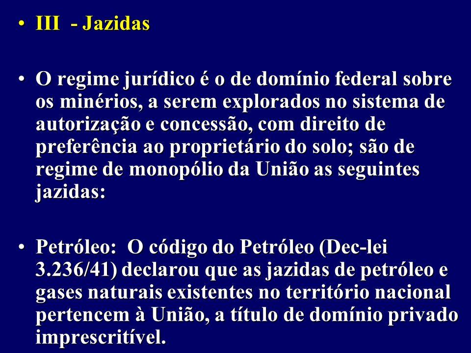 III - Jazidas