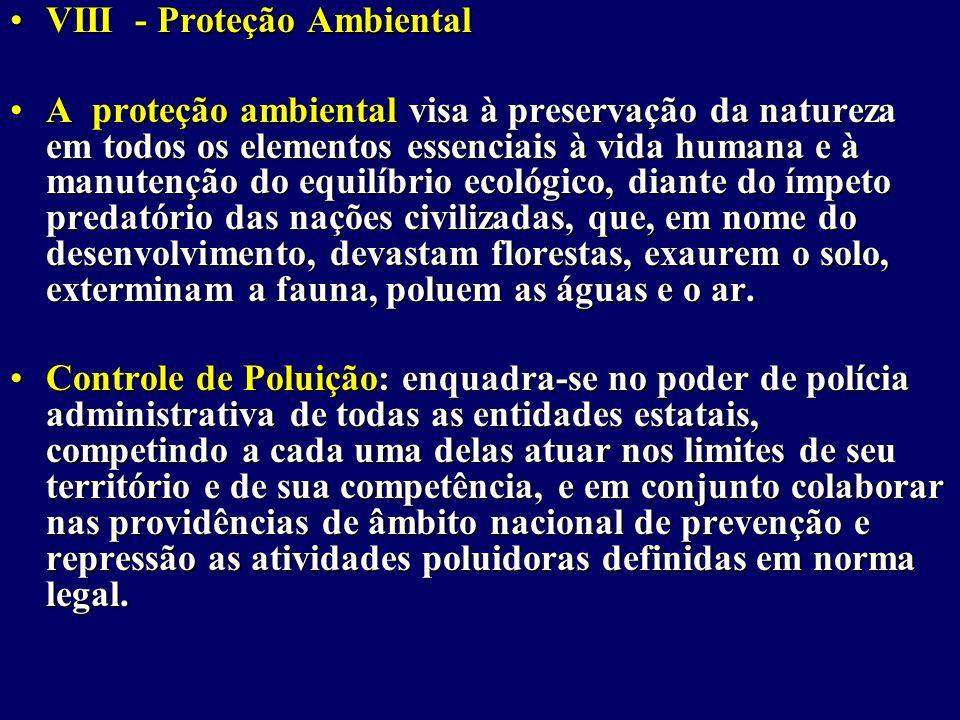 VIII - Proteção Ambiental