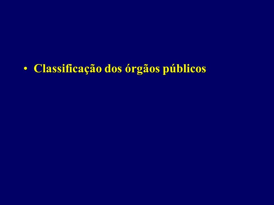 Classificação dos órgãos públicos