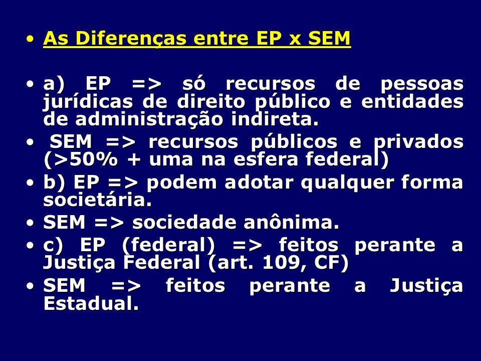 As Diferenças entre EP x SEM