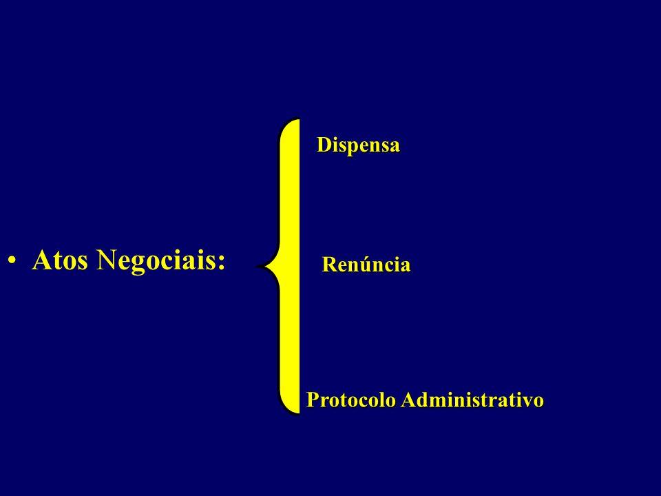 Dispensa Atos Negociais: Renúncia Protocolo Administrativo