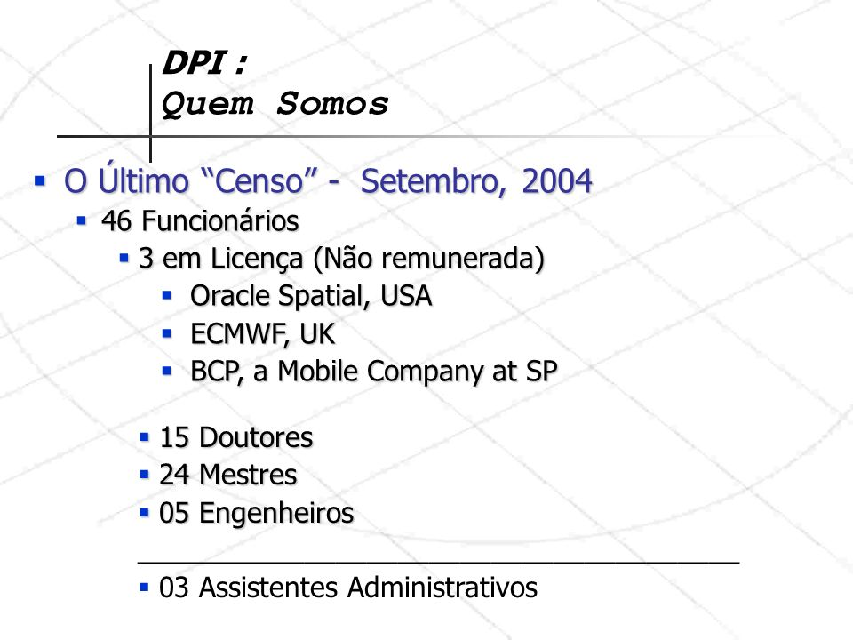 O Último Censo - Setembro, 2004