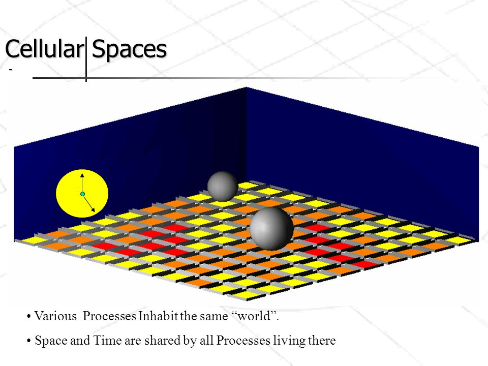 Cellular Spaces - Various Processes Inhabit the same world .