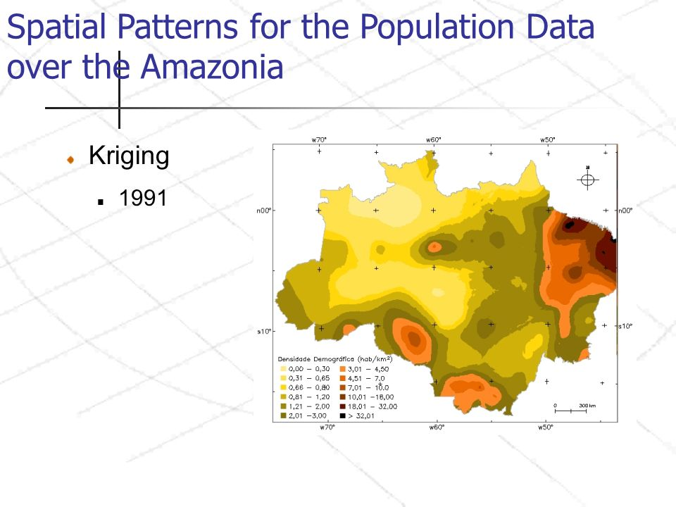 Spatial Patterns for the Population Data over the Amazonia