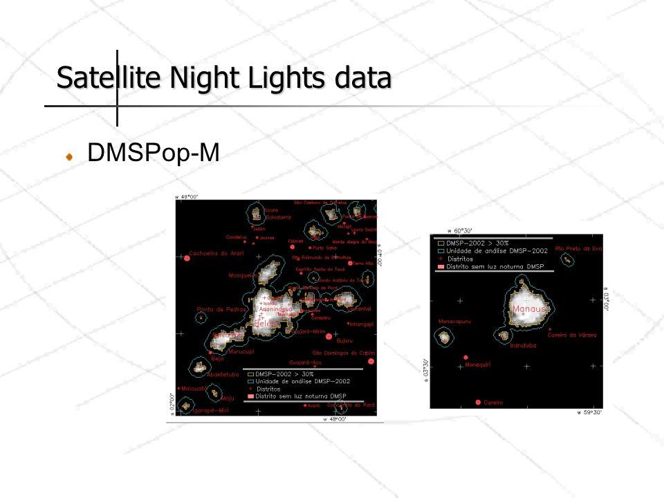 Satellite Night Lights data