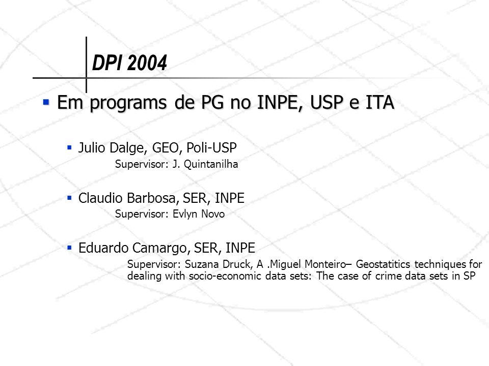 DPI 2004 Em programs de PG no INPE, USP e ITA
