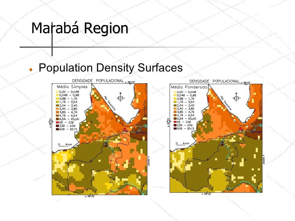 Marabá Region Population Density Surfaces