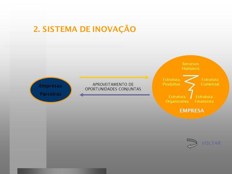 2. SISTEMA DE INOVAÇÃO EMPRESA Empresas Parceiras VOLTAR