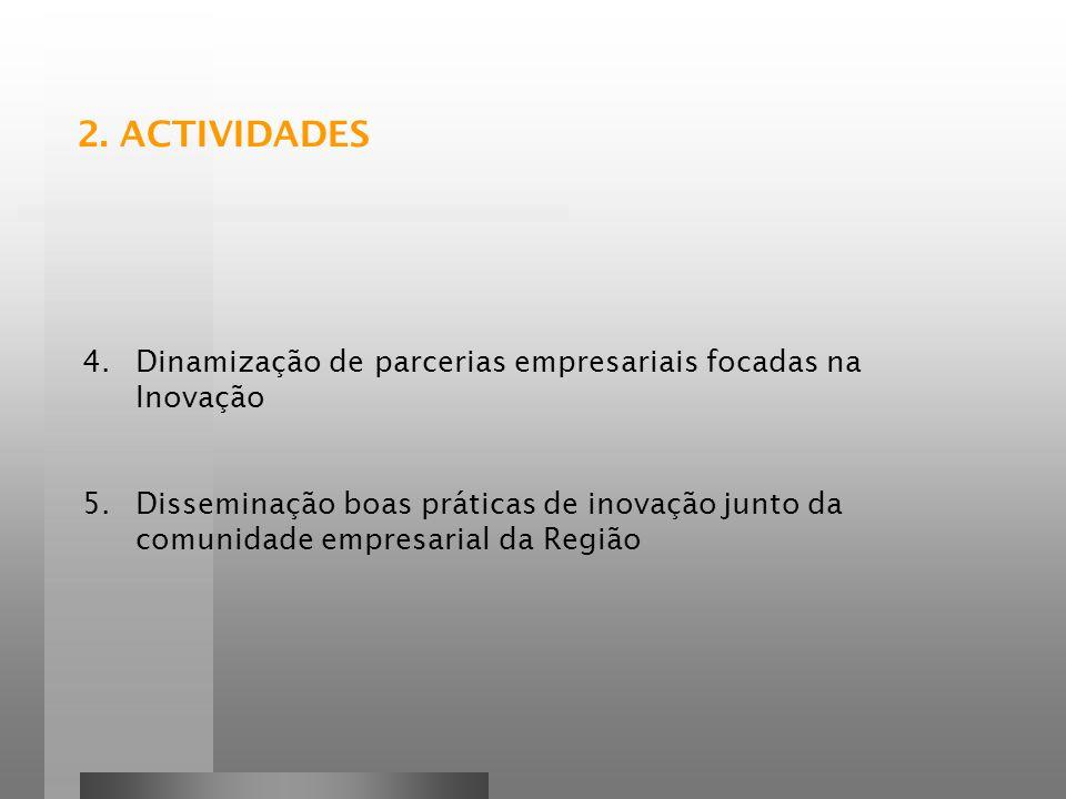 2. ACTIVIDADES Dinamização de parcerias empresariais focadas na Inovação.