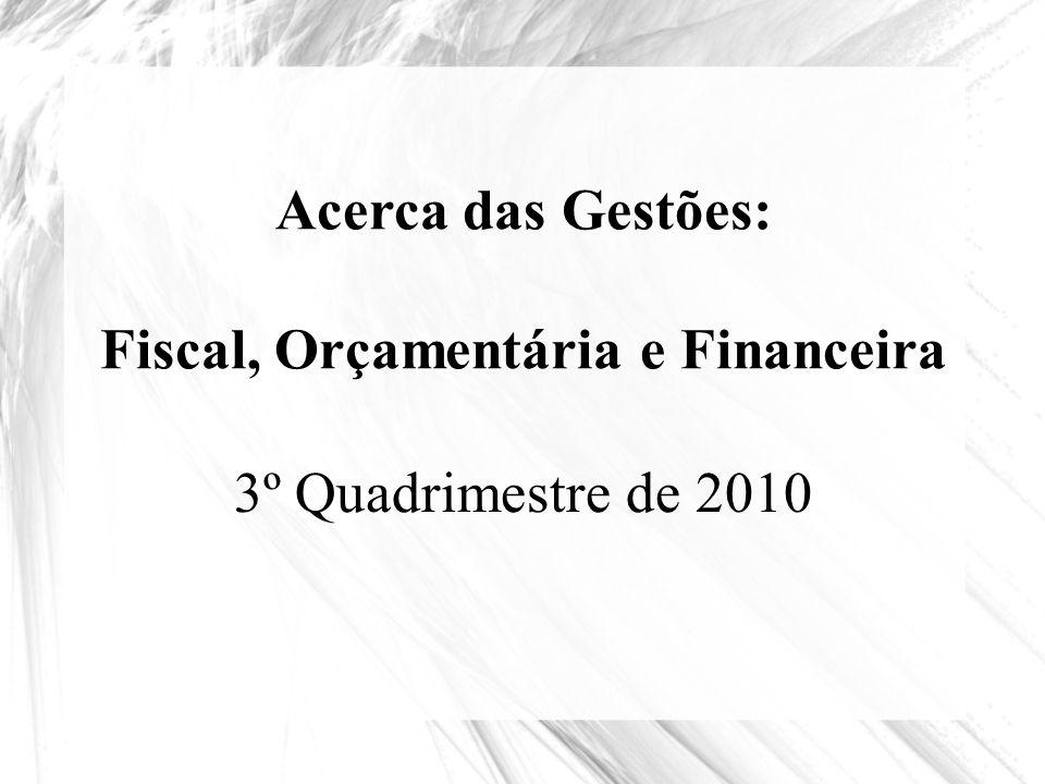 Fiscal, Orçamentária e Financeira