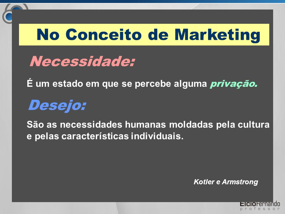 No Conceito de Marketing