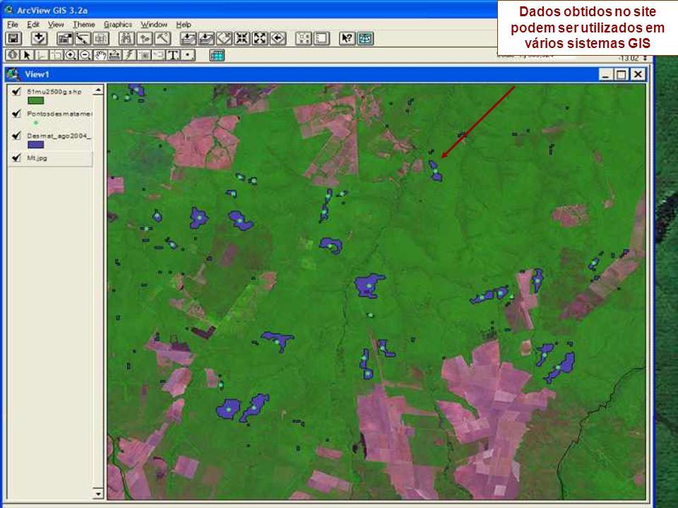 Dados obtidos no site podem ser utilizados em vários sistemas GIS