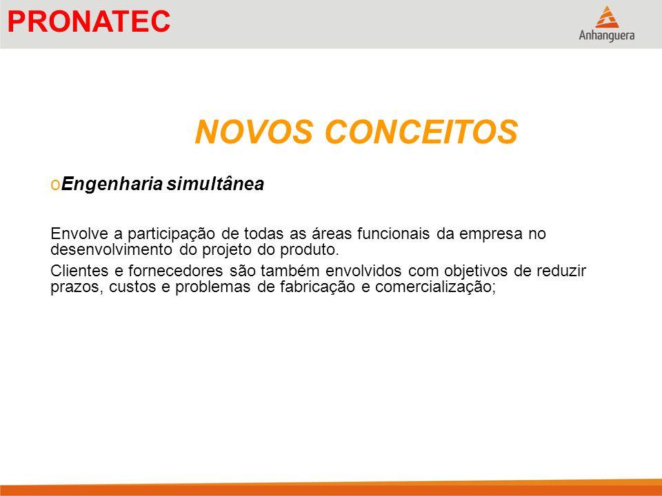 NOVOS CONCEITOS PRONATEC Engenharia simultânea