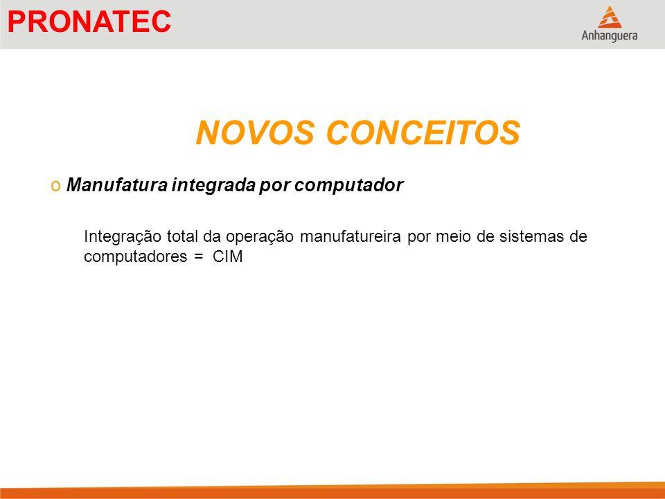 NOVOS CONCEITOS PRONATEC Manufatura integrada por computador