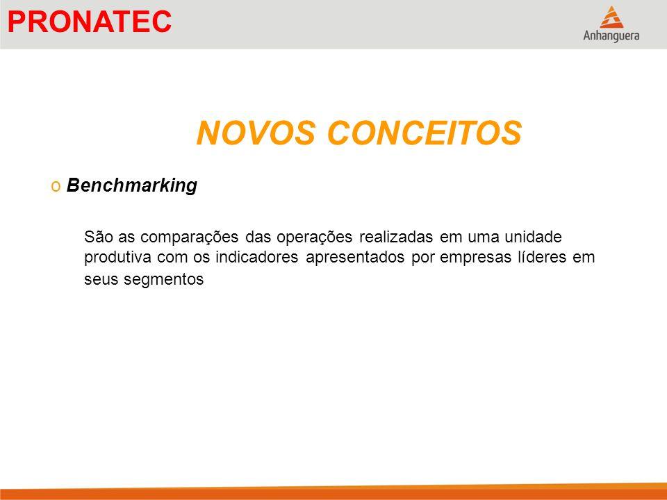 NOVOS CONCEITOS PRONATEC Benchmarking