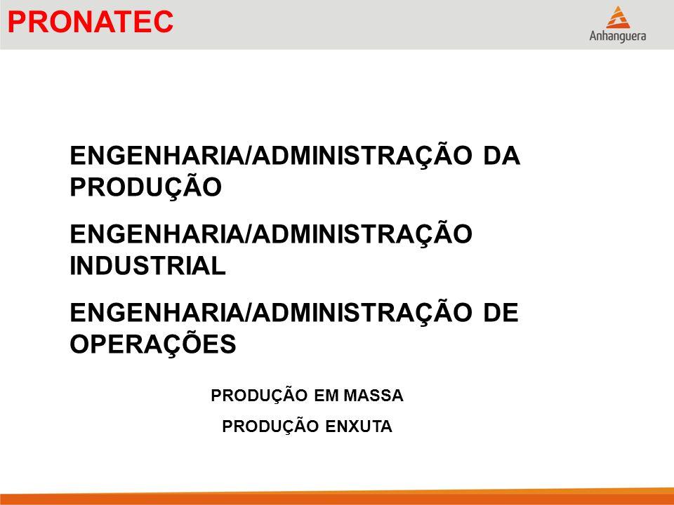 PRONATEC ENGENHARIA/ADMINISTRAÇÃO DA PRODUÇÃO