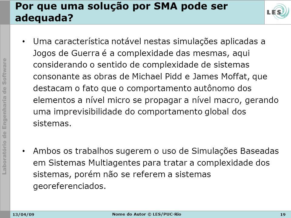 Por que uma solução por SMA pode ser adequada