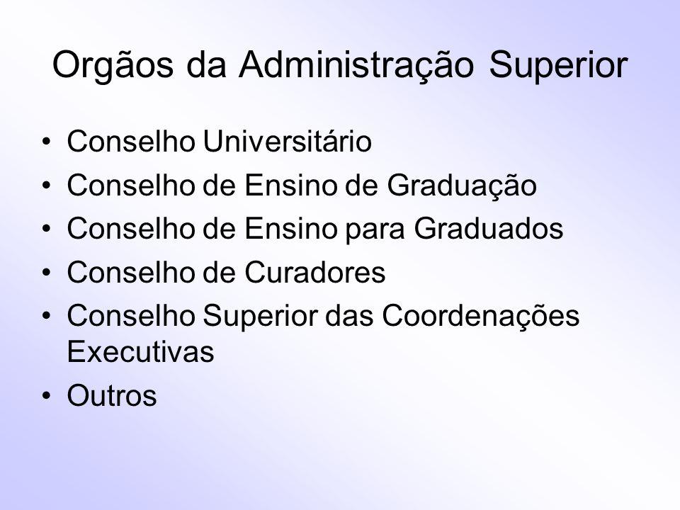 Orgãos da Administração Superior