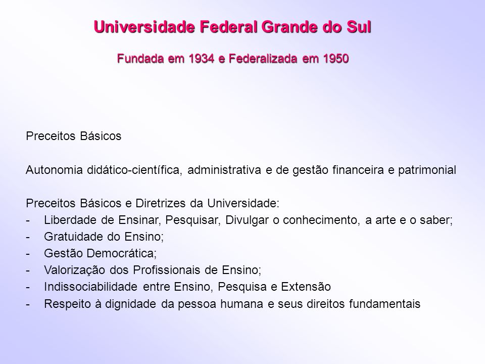 Universidade Federal Grande do Sul