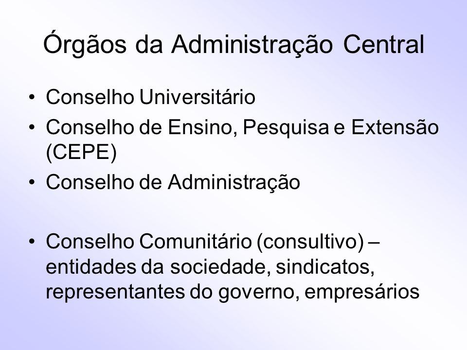 Órgãos da Administração Central