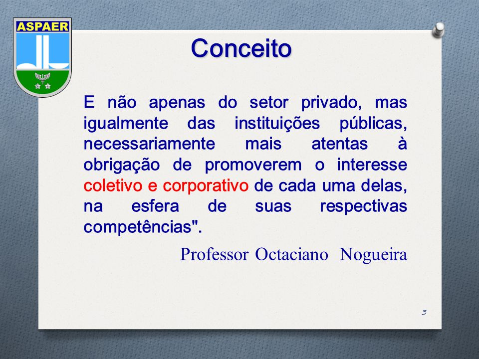 Conceito Professor Octaciano Nogueira