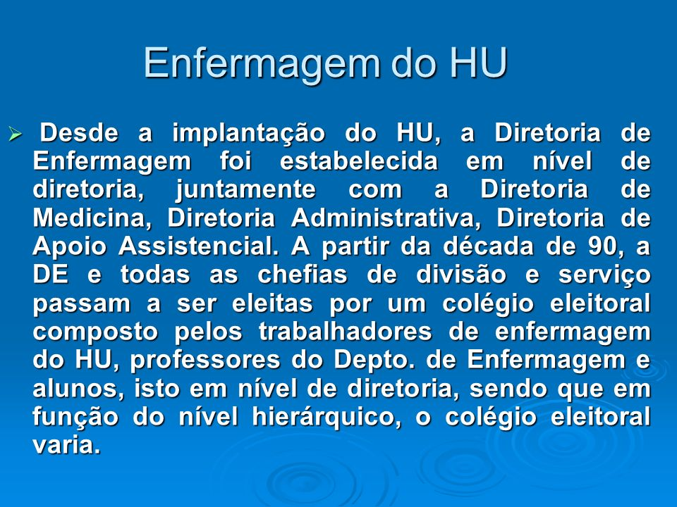 Enfermagem do HU