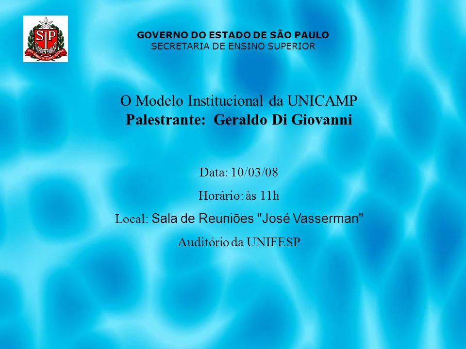 Palestrante: Geraldo Di Giovanni
