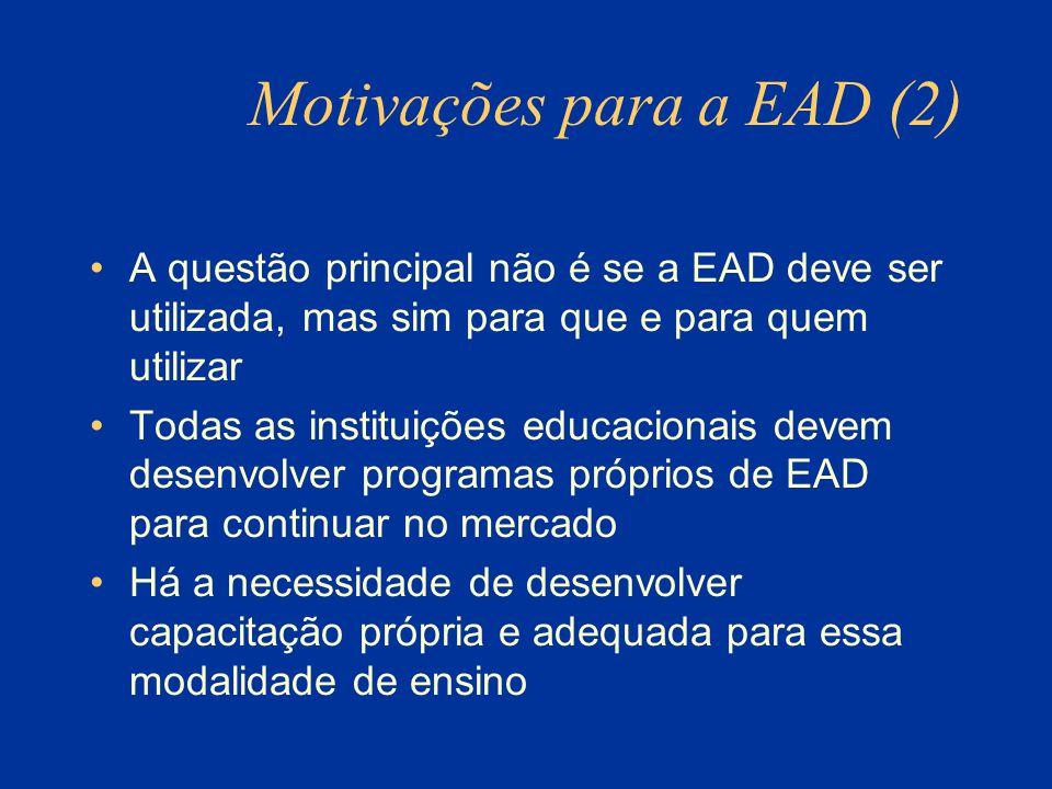 Motivações para a EAD (2)