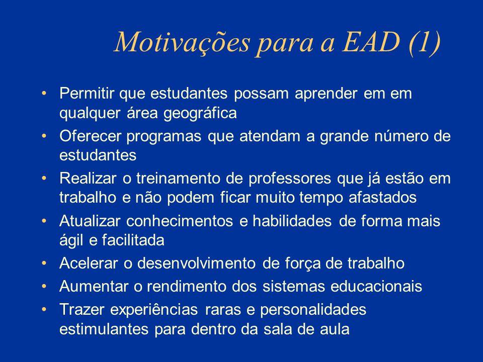 Motivações para a EAD (1)